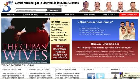 La versión en español de la web del Comité Nacional por la Liberación de Los Cinco en Estados Unidos fue presentada este miércoles. (http://www.freethefive.org/liberenaloscinco.htm)
