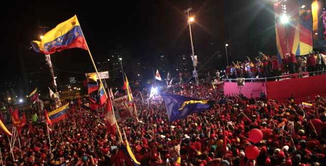Cierre de campaña de Nicolás Maduro. 11 de abril de 2013. Foto: AVN.