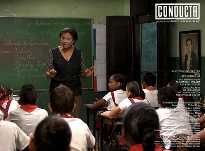 """Alina Rodriguez en un fotograma de la película cubana """"Conducta""""."""