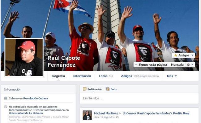 Imagen de la Biografía Raúl Antonio Capote en Facebook.