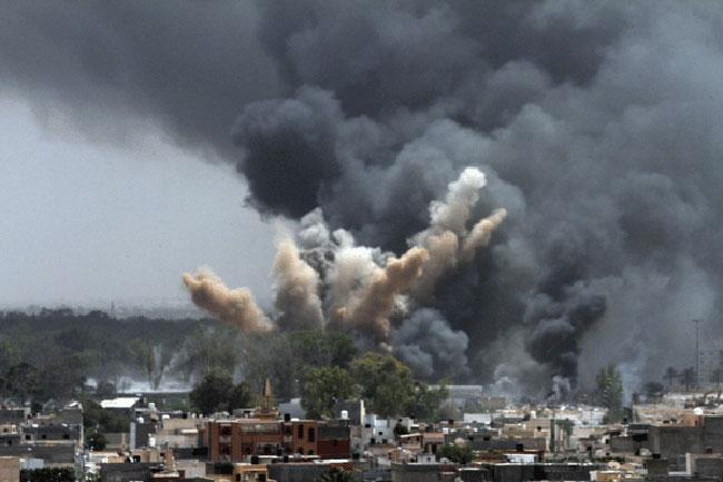 Una de las tantas imágenes divulgadas durante la invasión a Libia