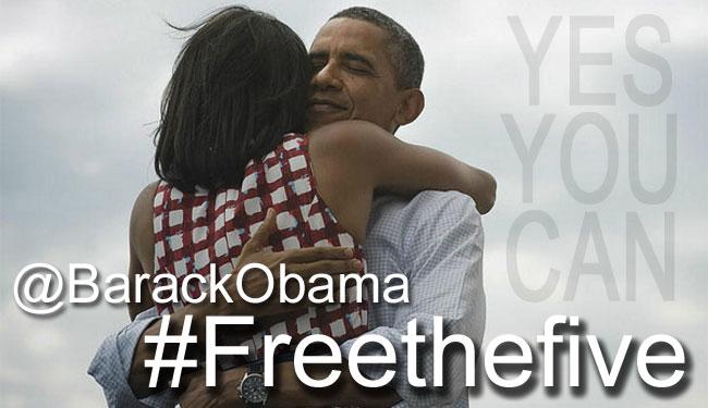 Barack Obama puede abrazar a su esposa cuando quiera. ¿Hasta cuándo le será negado ese abrazo a Ramón, Gerardo y Antonio?