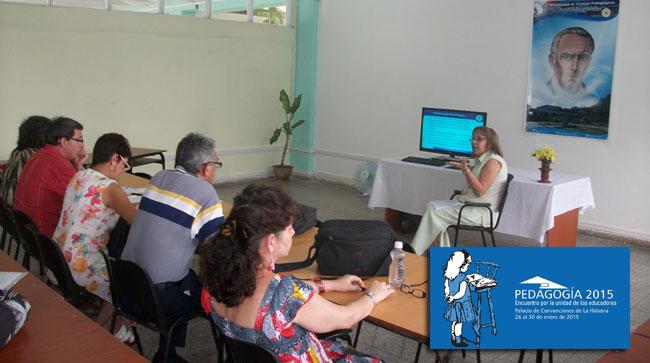 El intercambio de experiencias marca la diferencia en cada evento de base rumbo a Pedagogía 2015. Foto: Luis Ernesto/Visión desde Cuba.