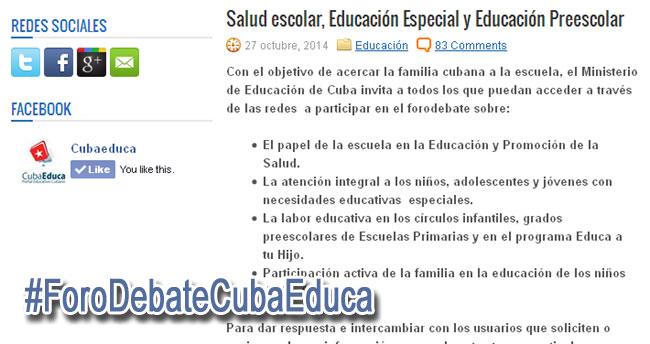 salud escolar – Visión desde Cuba