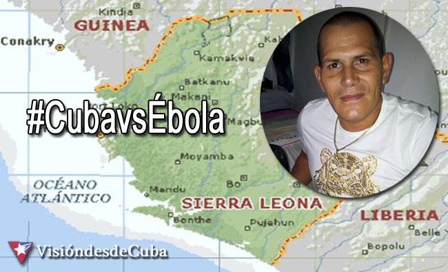 Jorge Luis Quiñones es un médico cubano que se encuentra en Sierra Leona combatiendo el ébola