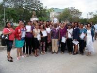 Reconocimiento a trabajadores no docentes de la Universidad de Ciencias Pedagógicas de Holguín. Foto: Luis Ernesto/Visión desde Cuba.