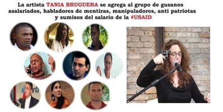 #TaniaBrugera se une a la Gusanera financiada desde #Miami
