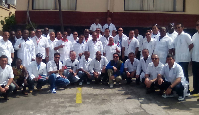 Integrantes de la Brigada Médica Cubana. Foto: Enrique Ubieta.