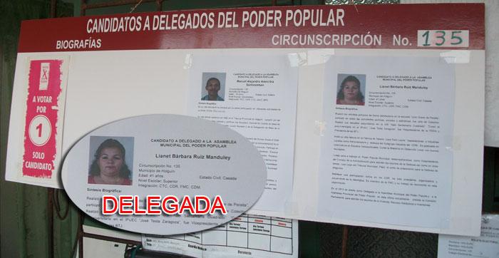 Lianet Bárbara Ruiz Manduley, Delegada de la circunscripción 135 de Holguín, fue elegida en el proceso del 2015.
