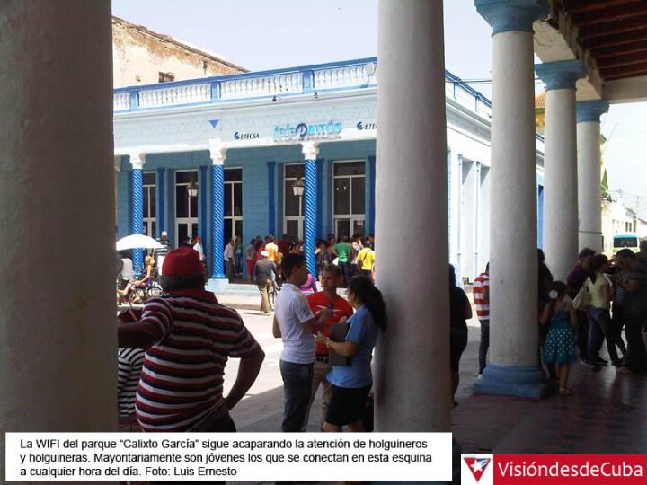 Usuarios de NAUTA conectados a la WIFI de ETECSA en la ciudad de Holguín