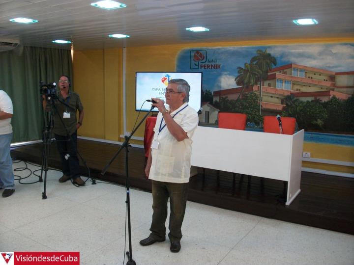 Inauguración de la Sala de Prensa ubicada en el Hotel Pernik. Foto: Luis Ernesto.