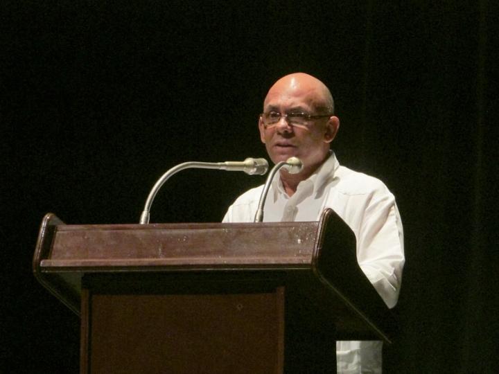 Reynaldo Velázquez Zaldívar, Rector de la Universidad de Holguín. Foto: Francisco Rojas.