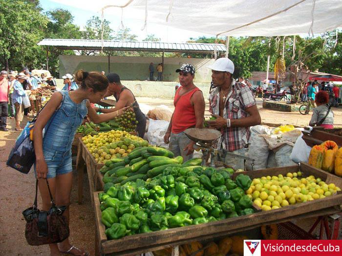 """Visita al Mercado de Oferta y Demanda """"Los Chinos"""" en la ciudad de Holguín. Oferta variada y precios muy elevados caracterizan las ofertas a la población. VDC FOTO/Luis Ernesto Ruiz Martínez."""