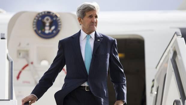 John Kerry llegó este domingo a Chile para participar de la cumbre de Nuestro Océano que se realizará en Valparaíso. Foto: 24 Horas.