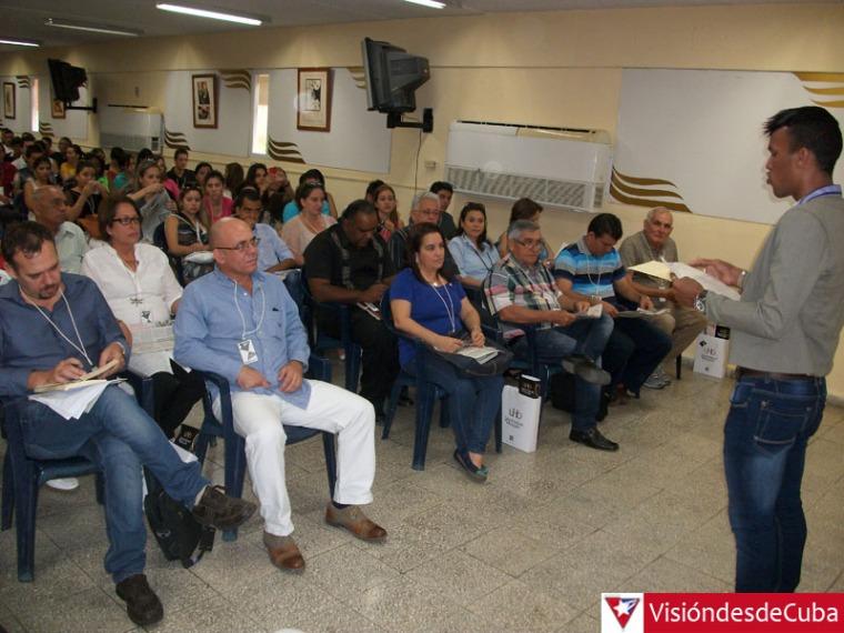 Jornada inicial del primer Simposio Nacional de Periodismo Apunto. Apertura efectuada en la Sala Celia Sánchez Manduley de la Universidad de Holguín. VDC FOTO/Luis Ernesto Ruiz Martínez.