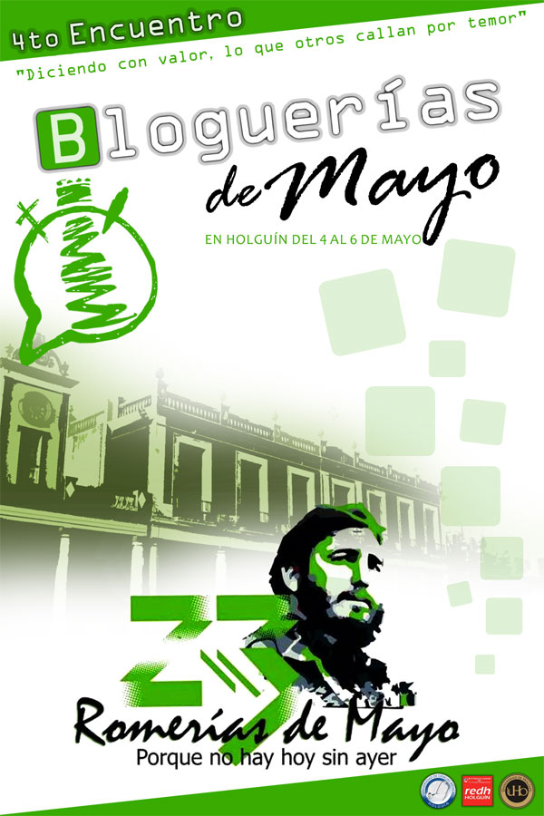 Cartel Oficial de Bloguerías de Mayo 2016. Diseño: Yensy Torres Oliva.