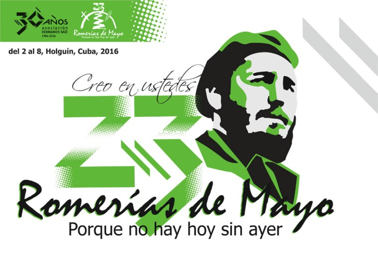 Cartel Oficial de la edición 23 de las Romerías de Mayo en Holguín.
