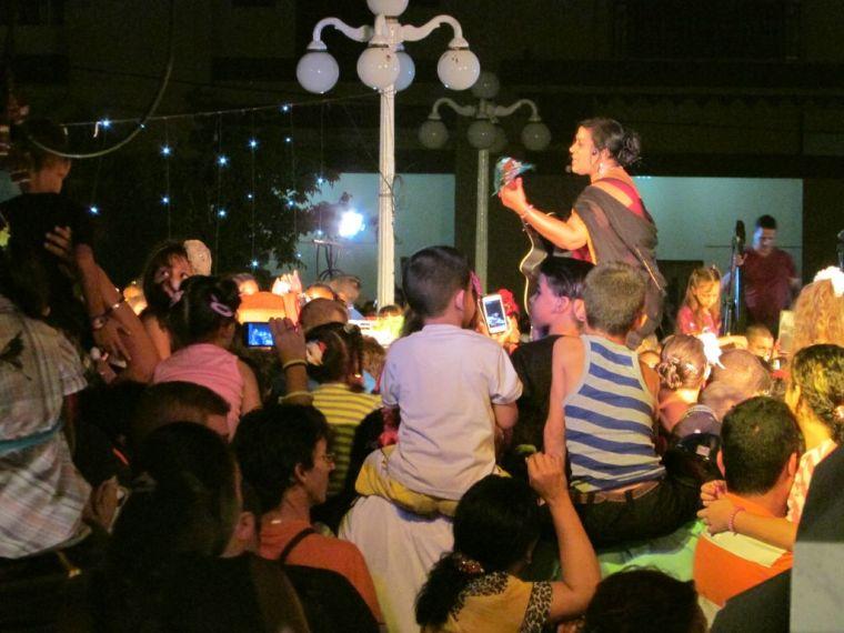 Concierto de Lidis Lamorú en Holguín. Foto: Francisco Rojas González.