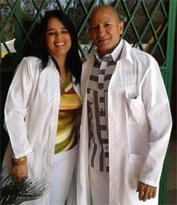 Bárbara Cruz y Leonardo Ortiz, cooperantes cubanos en Ecuador. Trabajaban en el Policlínico Marta Abreu de Santa Clara, Villa Clara.