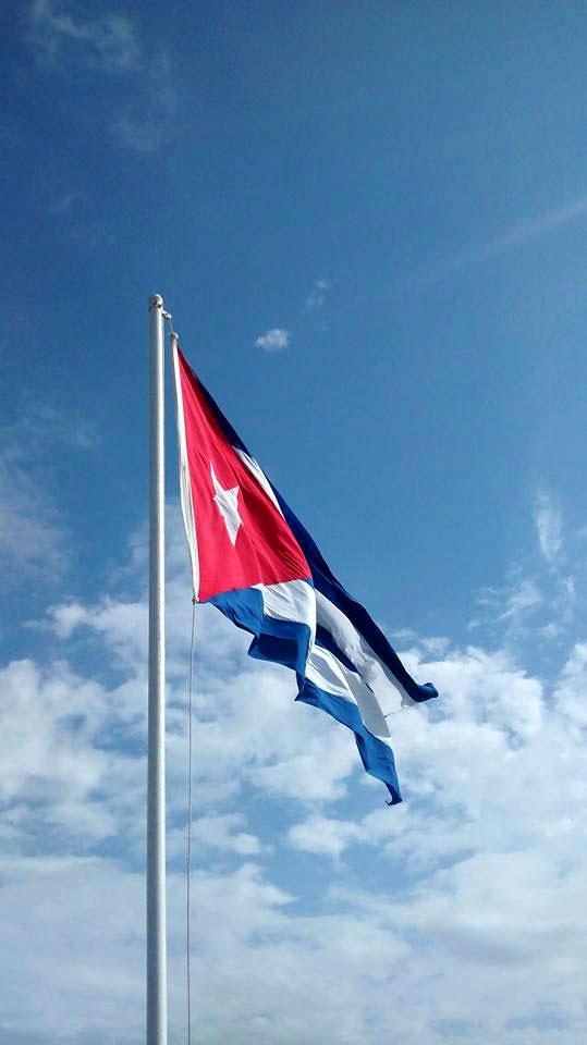 Bandera cubana. Foto: Yordanis Rodríguez Laurencio.
