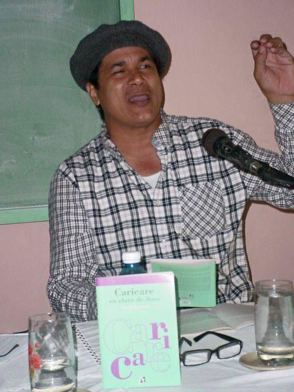 Onelio Escalona en la Universidad de Holguín. Foto: Francisco Rojas González.