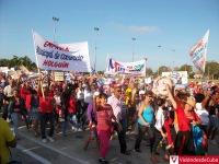 Desfile por el Primero de Mayo del 2016 en Holguín. Miles de holguineros festejan el Día Internacional de los Trabajadores en la Plaza Calixto García. VDC FOTO/Luis Ernesto Ruiz Martínez.