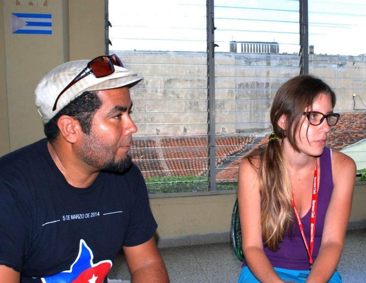Isis y Joel reconocen  la importancia de la unidad en los procesos que se viven en el continente. Foto: Carlos Parra Zaldívar.