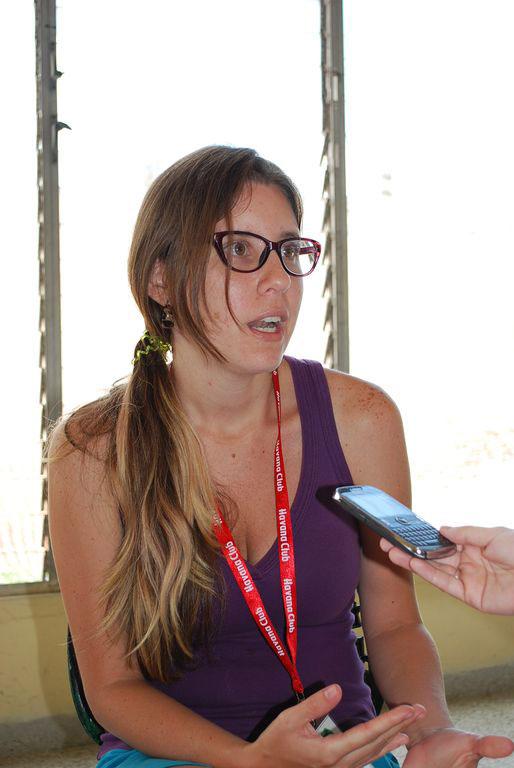 Isis Rojas, periodista venezolana. Foto: Carlos Parra Zaldívar.