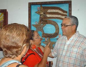 Exposición fotográfica Fidel, hombre que transgrede el tiempo, donada por Alex Castro. Foto: Yusmel Pérez.