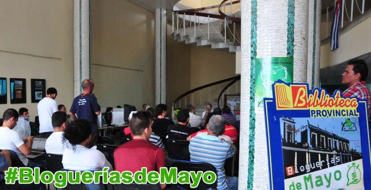 Las sesiones de Bloguerías de Mayo volverán a realizarse del 4 al 6 en la primera planta de la Biblioteca Provincial Alex Urquiola.