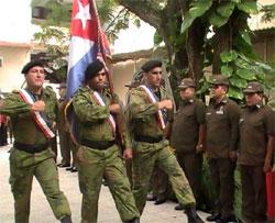 Combatientes del Minint celebran hoy su aniversario junto al pueblo. Foto: Arnaldo Vargas Castro.