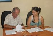 Firma del Contrato de prestación de servicios de la Agencia Cubana de Noticias a la Universidad de Holguín. Efectuada el 7 de julio de 2016 en la Sede Celia Sánchez Manduley. UHO FOTO/Torralbas.