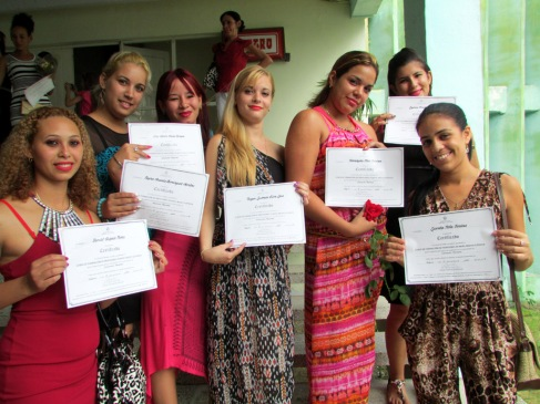 Acto de graduación del Curso de Formación de Profesores de Nivel Medio Superior. Efectuado el 12 de julio de 2016 en la sede José de la Luz y Caballero. UHO FOTO/Francisco Rojas González.