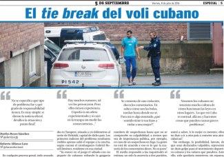 Captura del pdf publicado con la noticia del periódico 5 de septiembre. (Tomado de internet)