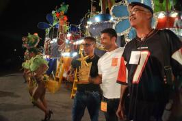 La carroza del Ministerio de la Agricultura obtuvo el Primer lugar del Carnaval Holguín 2016, durante la clausura de la fiesta popular, en la ciudad cubana de los parques, el 21 de agosto de 2016. ACN FOTO/Juan Pablo CARRERAS/sdl