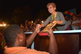 La carroza de la FEU obtuvo el Segundo lugar del Carnaval Holguín 2016, durante la clausura de la fiesta popular, en la ciudad cubana de los parques, el 21 de agosto de 2016. ACN FOTO/Juan Pablo CARRERAS/sdl