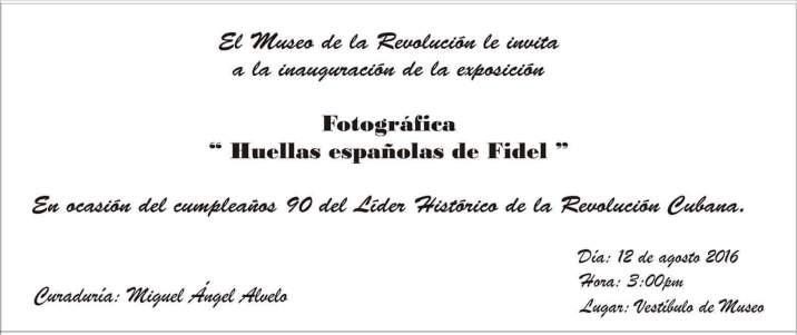 Invitación a la exposición.