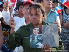 Acto nacional por el aniversario 56 de la Federación de Mujeres Cubanas, FMC. Foto: Lisandra Cardoso/Radio Angulo.