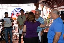 Reconocimiento a miembros del Jurado del Concurso Provincial de Periodismo Eloy Concepción Pérez en medio del Proyecto Cultural-recreativo Palabra Viva que desarrolla la UPEC en Holguín. VDC FOTO/Luis Ernesto Ruiz Martínez.
