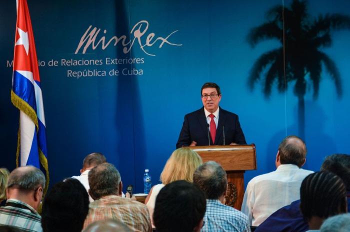 Bruno Rodríguez Parrilla, Ministro cubano de Relaciones Exteriores, presenta a la prensa el Informe anual de Cuba sobre los daños ocasionados por el bloqueo económico, comercial y financiero de los Estados Unidos de América contra la isla, en la sede de la cancillería cubana en La Habana, el 8 de septiembre de 2016. ACN FOTO/Marcelino VÁZQUEZ HERNÁNDEZ.