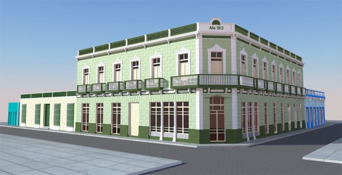 Así quedará el Hotel Saratoga en una de las principales esquinas del casco histórico holguinero, con una atractiva imagen que destacará por sus valores patrimoniales.