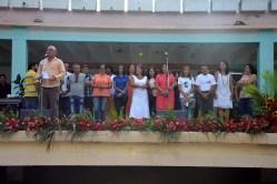 El Dr. Reynaldo Velázquez Zaldívar, Rector de la Universidad de Holguín, presenta al Consejo de Dirección durante el acto de inicio del curso escolar 2016-2017. Efectuado en la Facultad de Cultura Física el 5 de septiembre de 2016. UHO FOTO/Luis Ernesto Ruiz Martínez.