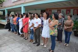 Los miembros del Consejo de Dirección de la Universidad de Holguín son presentados en el acto de inicio del curso escolar 2016-2017. Efectuado en la Facultad de Cultura Física el 5 de septiembre de 2016. UHO FOTO/Luis Ernesto Ruiz Martínez.