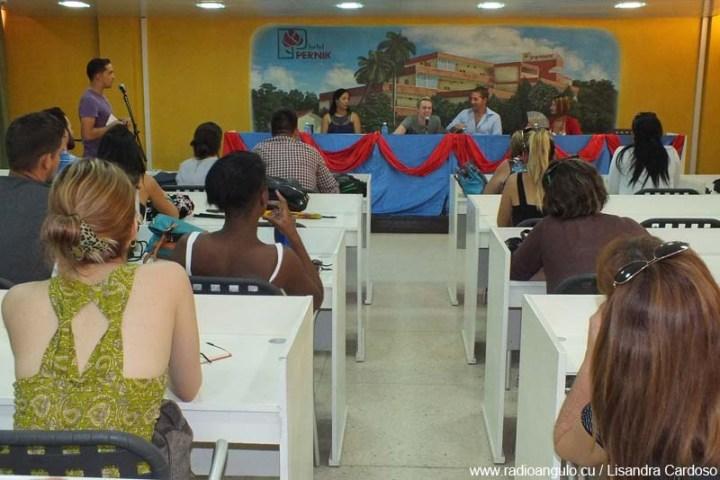 Conferencia de prensa ofrecida en el Hotel Pernik. Foto: Lisandra Cardoso/Radio Angulo.