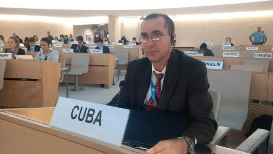 Intervención del delegado de Cuba, Pablo Berti Oliva en el ejercicio del derecho a réplica a la Delegación de EE.UU.