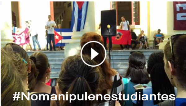 Estudiantes de la Universidad de la Habana alzan su voz contra las becas ofrecidas a jóvenes cubanos.