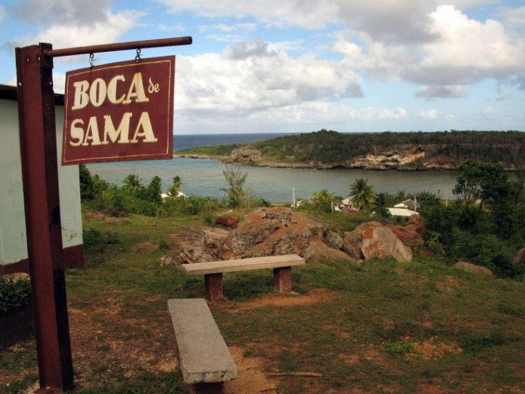 Asentamiento costero de Boca de Samá (ubicado en el municipio holguinero de Banes).