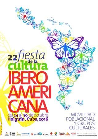 Cartel de la XXII Fiesta de la Cultura Iberoamericana.