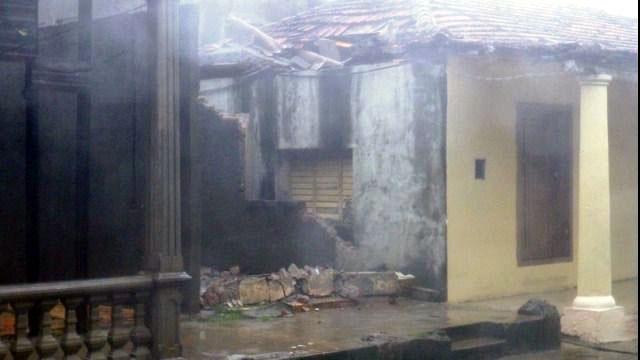 Daños del huracán Matthew en Baracoa. Foto: Miguel Ángel Sánchez Pineda.
