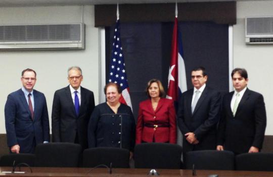 Delegaciones oficiales a la IV reunión de la Comisión Bilateral Cuba-US. Foto: @JosefinaVidalF / Twitter